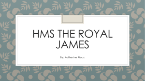 HMS The Royal James Persuasive Speech Powerpoint