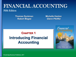 Chapter 1 - Introducing Financial Accounting