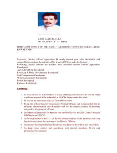 Executive District Officer Agriculture Rawalpindi