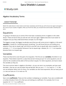 AlgebraVocabularyTerms