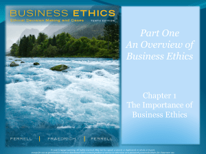 Business Ethics Ferrell -Chapter 1