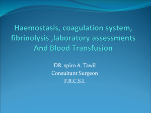 2-Hemostasis and transfusion surgery