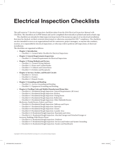 QC-Electrical Inspection Checklists