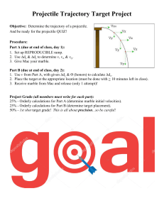 Projectile Trajectory Target Project