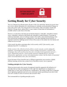 Getting Ready for Cyber Security