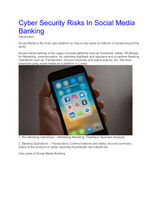 Cyber Security Risks In Social Media Banking