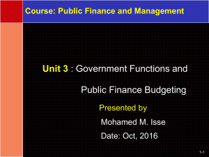 Chapter  3 Government Functions and P. Budgeting (1)