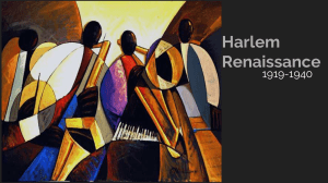 Harlem Renaissance Brief Background Presentation