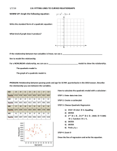 NOTEPACK for Quadratic Models