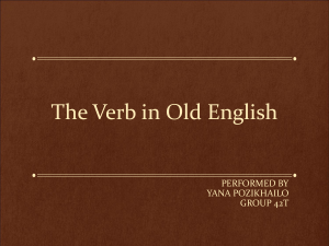 The Verb in Old English