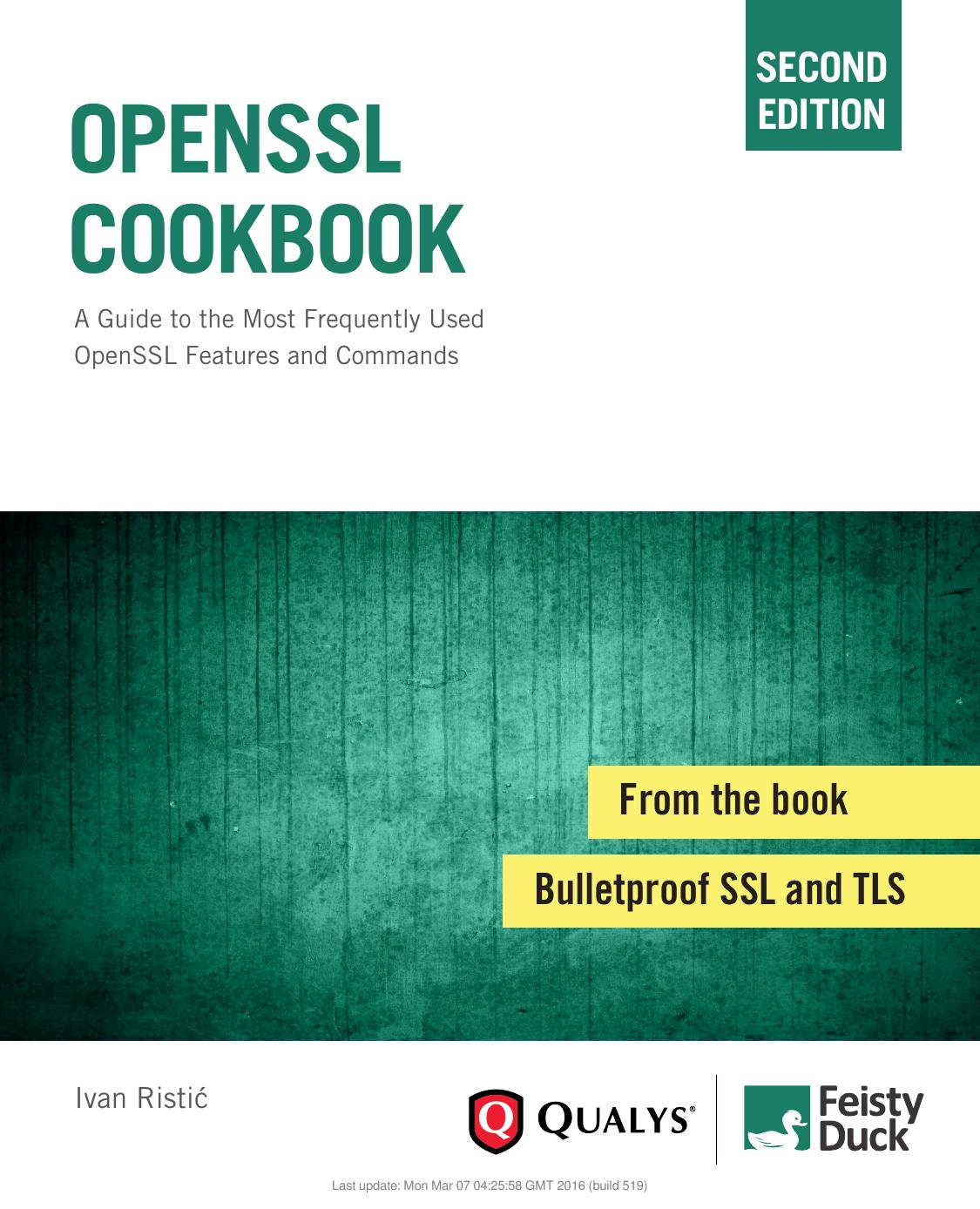 OpenSSL Cookbook 2ed - Ristić, Ivan 5583
