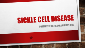 Sickle Cell Presentation