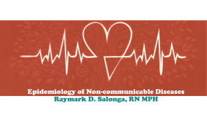 01 Epidemiology of Non-communicable Diseases