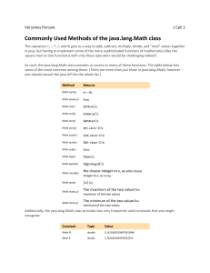 Java math methods
