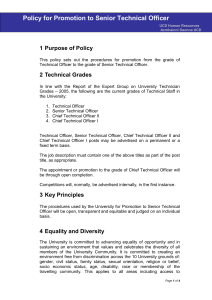 Policy for Promotion to Senior Technical Officer