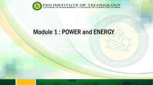 module 1 - Power Generation
