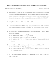 Probability Exercise problems-1