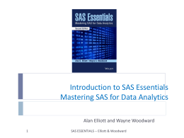Chapter 5 SAS ESSENTIALS