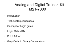 Analog and Digital Trainer  Kit