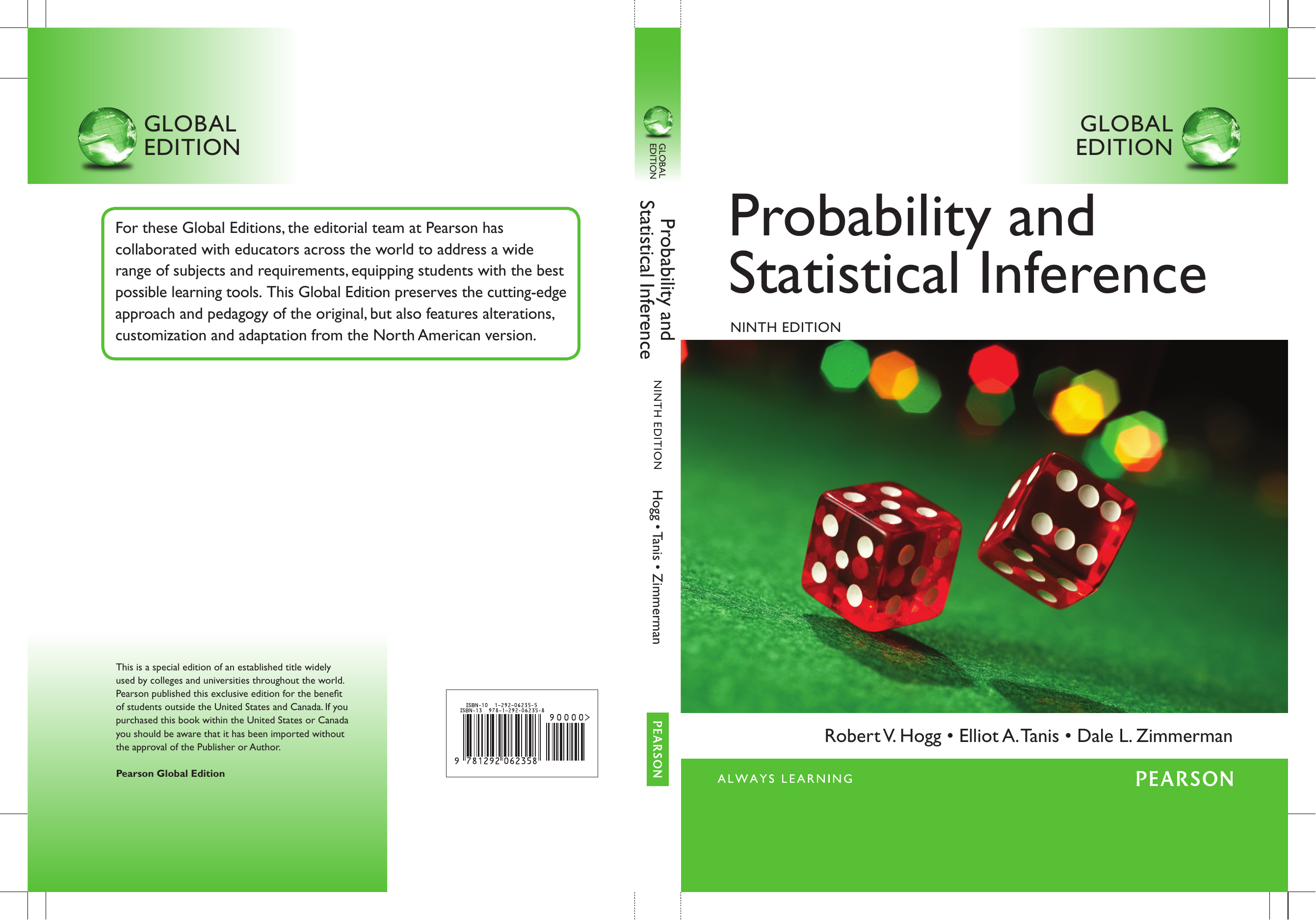 Hogg] Probability and Statistical Inference, Glo