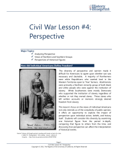 Civil War Lesson 4 (Perspective) final web