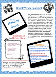 Social Worker Snapshot-Holiday Blues