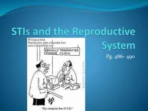 STI's and the Reproductive System