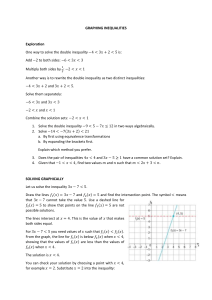 Graphing inequalities WS