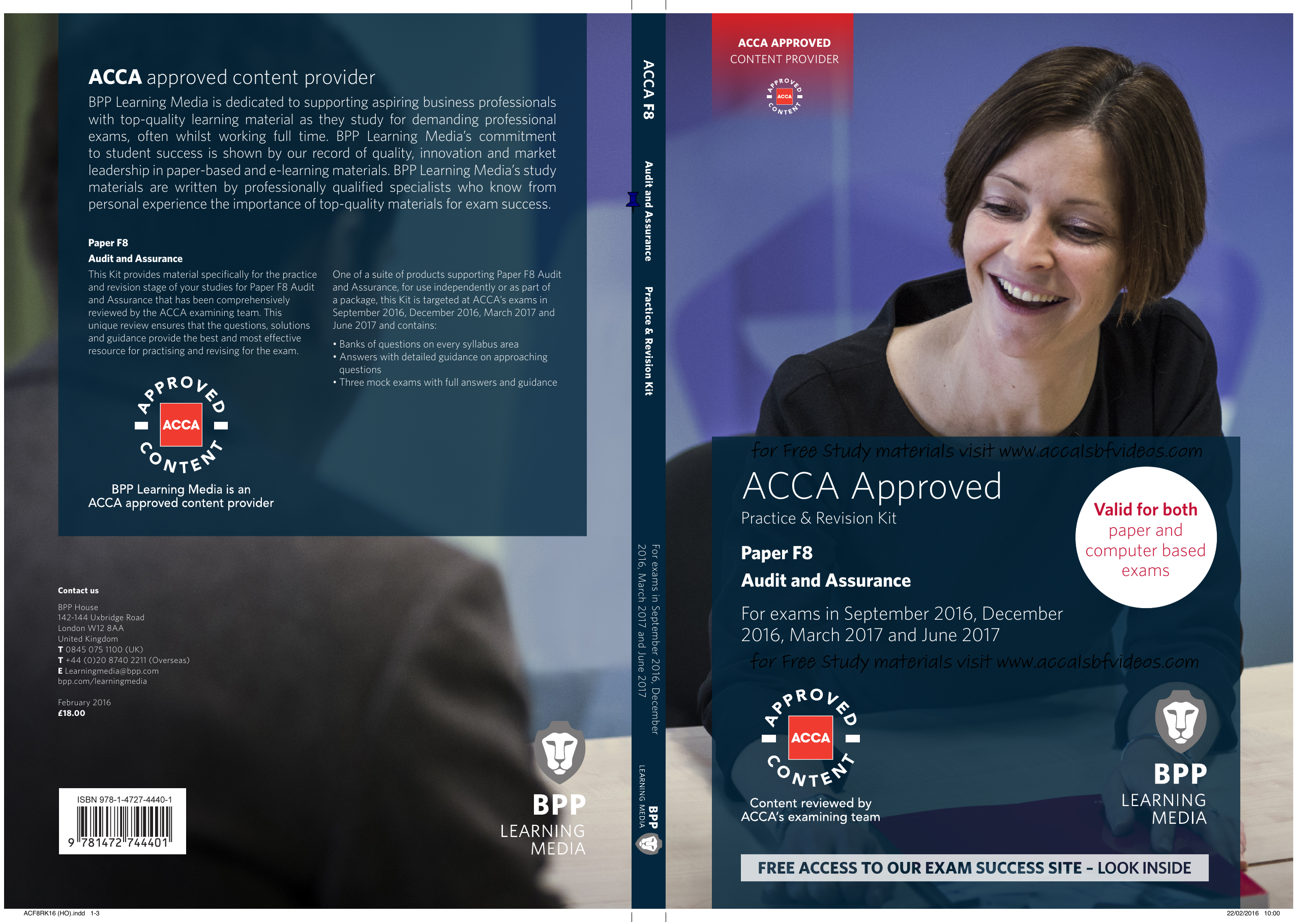 acca-f8-audit-and-assurance-revision-kit-2016-2017