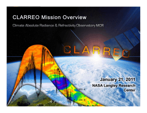 CLARREO Mission Overview Jan 2011