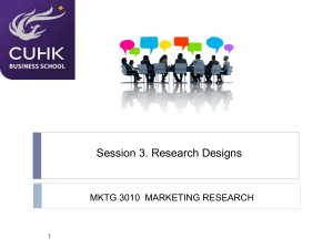 Session 3- Research Design