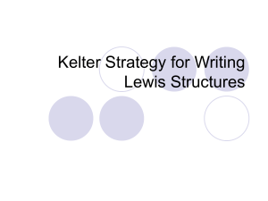 Kelter Strategy for Writing Lewis Structures