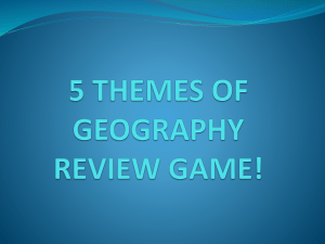 5 THEMES OF GEOGRAPHY REVIEW GAME!