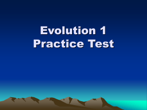 Evolution 1 Practice Test