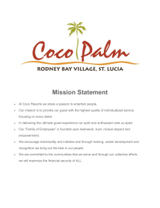 Coco Palm Mission Statement