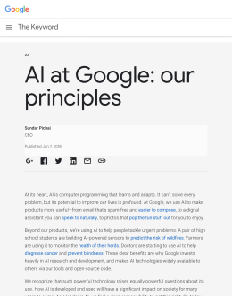 AI at Google: our principles