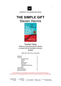 Teachers' Notes The Simple Gift