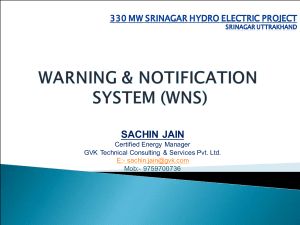 WARNING AND NOTIFICATION SYSTEM FOR HYDRO PROJECT