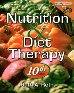250-Nutrition & Diet Therapy, 10 Edition=Ruth A. Roth=1435486293=Delmar Cengage Learning=2010=608