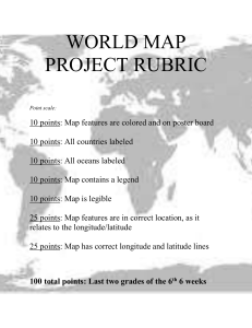 WORLD MAP PROJECT RUBRIC