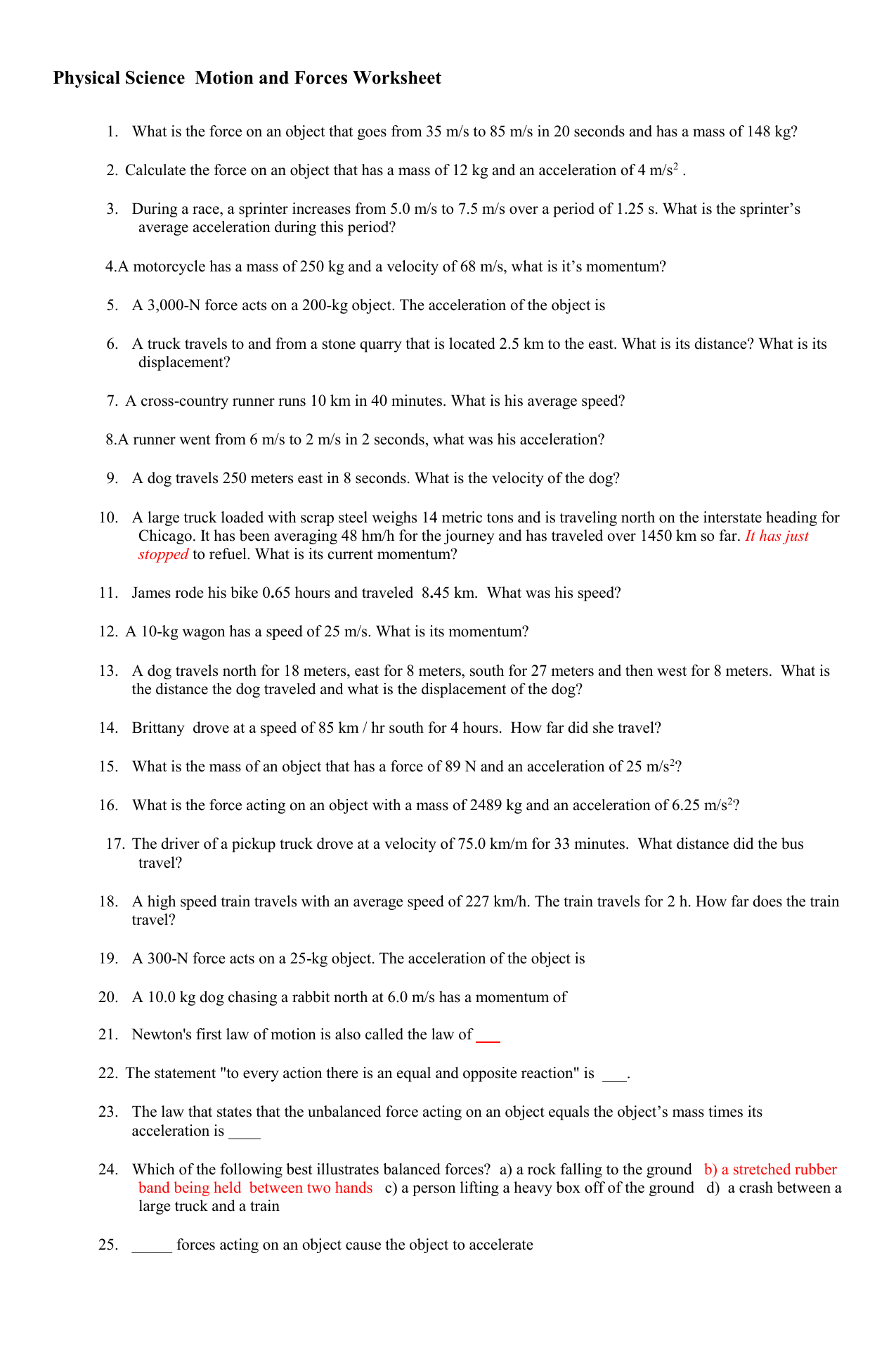 Physical science homework answers essays on the necklace by guy demaupassant