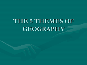 5 themes of Geography notes