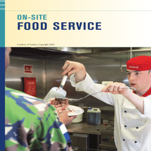 12. Chapter 7 - On Site Food Service