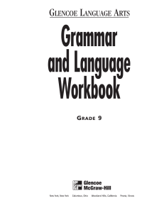 9th Grammar Workbook