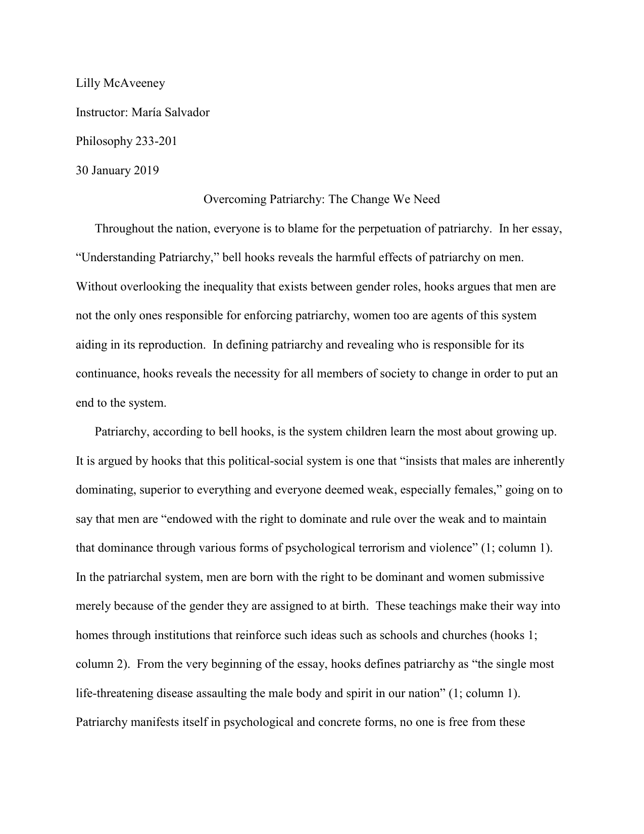 Patriarchy Essay ⋆ Essays on Controversial Topics ⋆ EssayEmpire