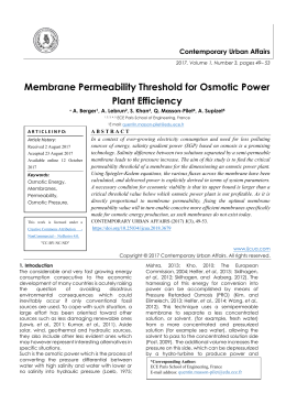 Membrane Permeability Threshold for Osmotic Power Plant Efficiency