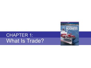 Chapter 1 - What is Trade