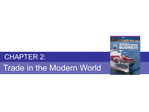 Chapter 2 - Trade in the Modern World