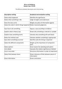 Academic and Critical Writing Tips