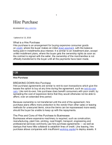 hire purchase system